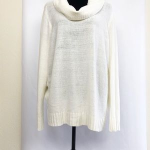 Soft Chenille- like Cowl Neck Sweater Size L